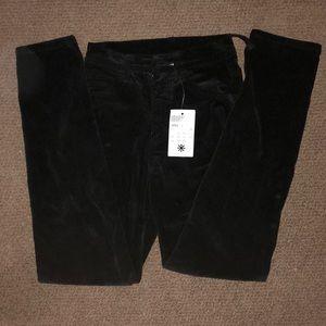 High waisted Corduroy Black pAnts w/ tags